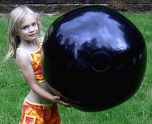 "36"" 1 Color Basic Black Beach Ball"
