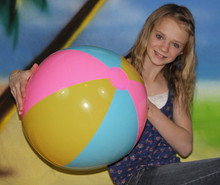 "24"" 3 Color SUNCO Pink/Blue/Yellow Beach Ball"