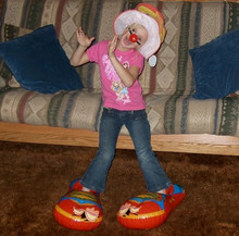 """20"""" Inflatable Red Clown Shoes - ONE PAIR"""