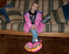 """20"""" Inflatable Pink Clown Shoes - ONE PAIR"""