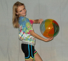 "16"" Transparent 6 Color Beach Ball"