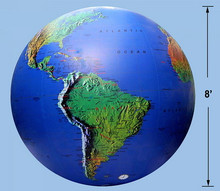 "144"" Inflatable Earth Globe - Topographical - SUPER DUTY!"