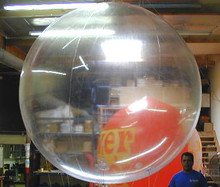 "144"" 6 Panel CRYSTAL CLEAR Beach Ball - CUSTOM"
