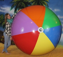 "108"" 7 Color Beach Ball - HEAVY DUTY!"