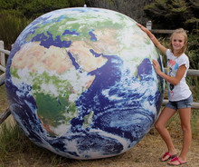 "108""  Inflatable ASTRONAUTS VIEW Earth Globe w/Clouds - SUPER DUTY!"