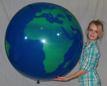 "36"" Earth Globe Balloons - Latex - 2 PACK!"