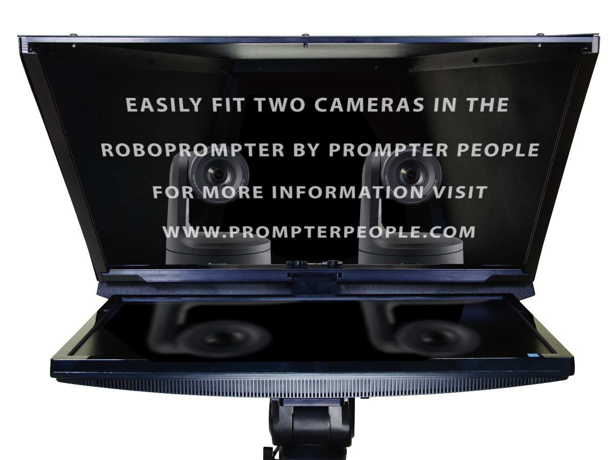 Robotic Camera  and PTZ Camera Broadcast and Studio 2 Camera Teleprompter