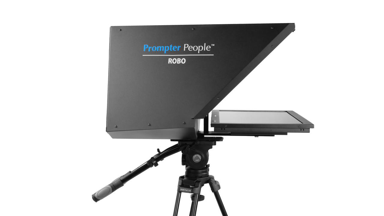 ROBO Robotic Camera and PTZ Teleprompter Broadcast and Studio HB Teleprompter - Side