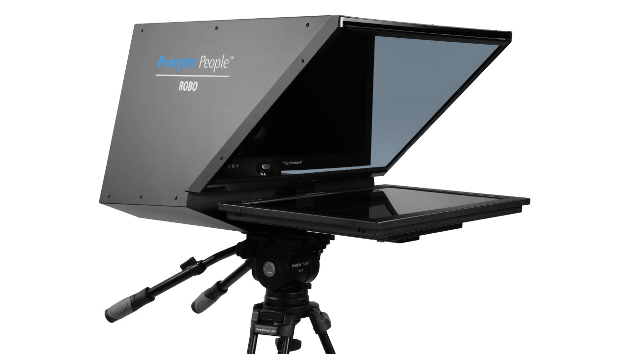 ROBO Robotic Camera and PTZ Teleprompter Broadcast and Studio HB Teleprompter - Angled B