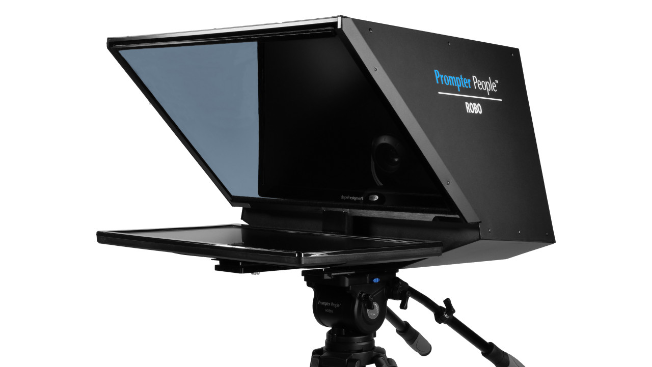 Robo and PTZ Camera Broadcast and Studio Teleprompter - Angled