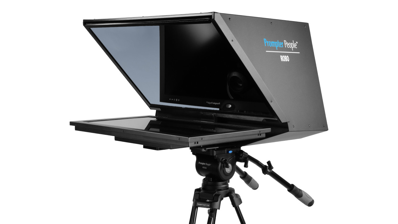 Robo and PTZ Camera Broadcast and Studio HB Teleprompter - Angled