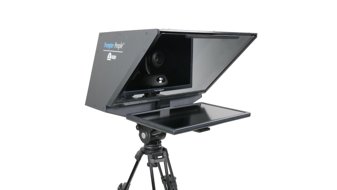 "ROBO Robotic Camera and PTZ Teleprompter 21.5"" 400 NIT   HD-SDI, HDMI - Angled"