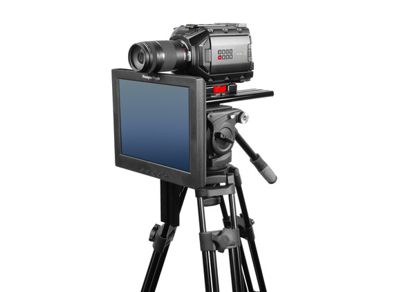 Undercamera 12 Teleprompter - PrompterPeople with Freesoftware - Side Angled