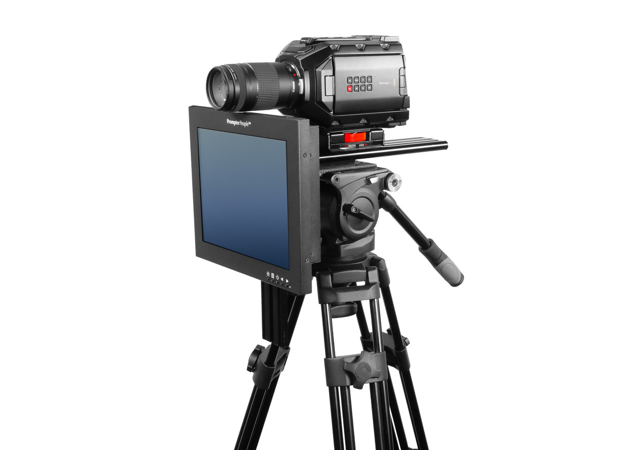 Undercamera 12 HB Teleprompter - PrompterPeople with Freesoftware - Side Angled