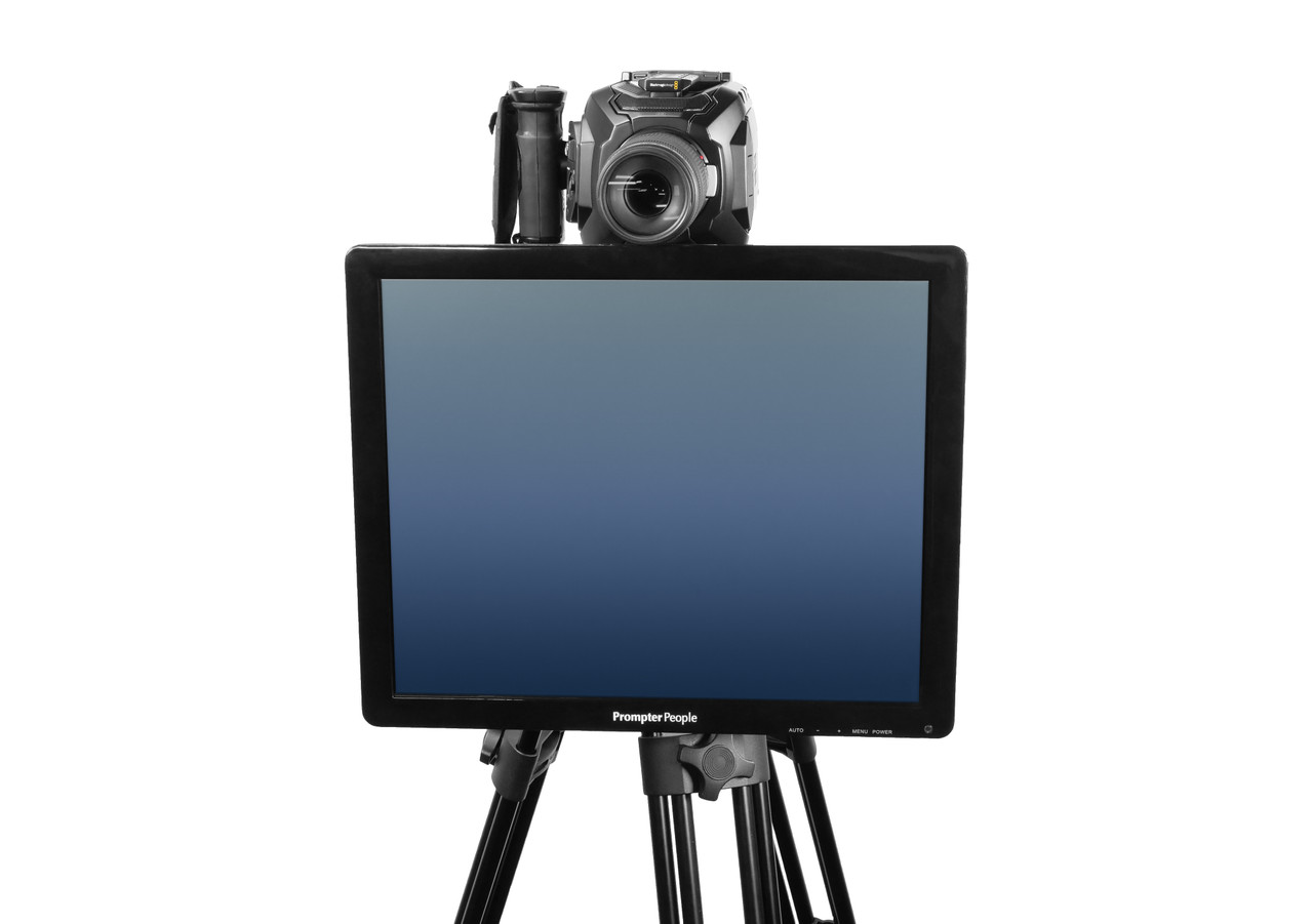 Undercamera 19 Teleprompter - PrompterPeople with Freesoftware - Front
