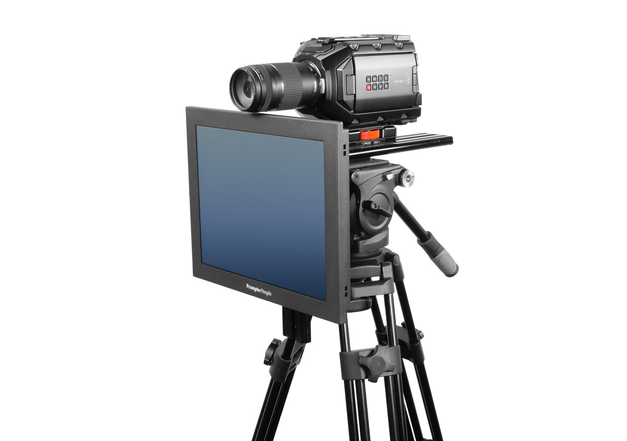 Undercamera 15 HB Teleprompter - PrompterPeople with Freesoftware - Side Angled