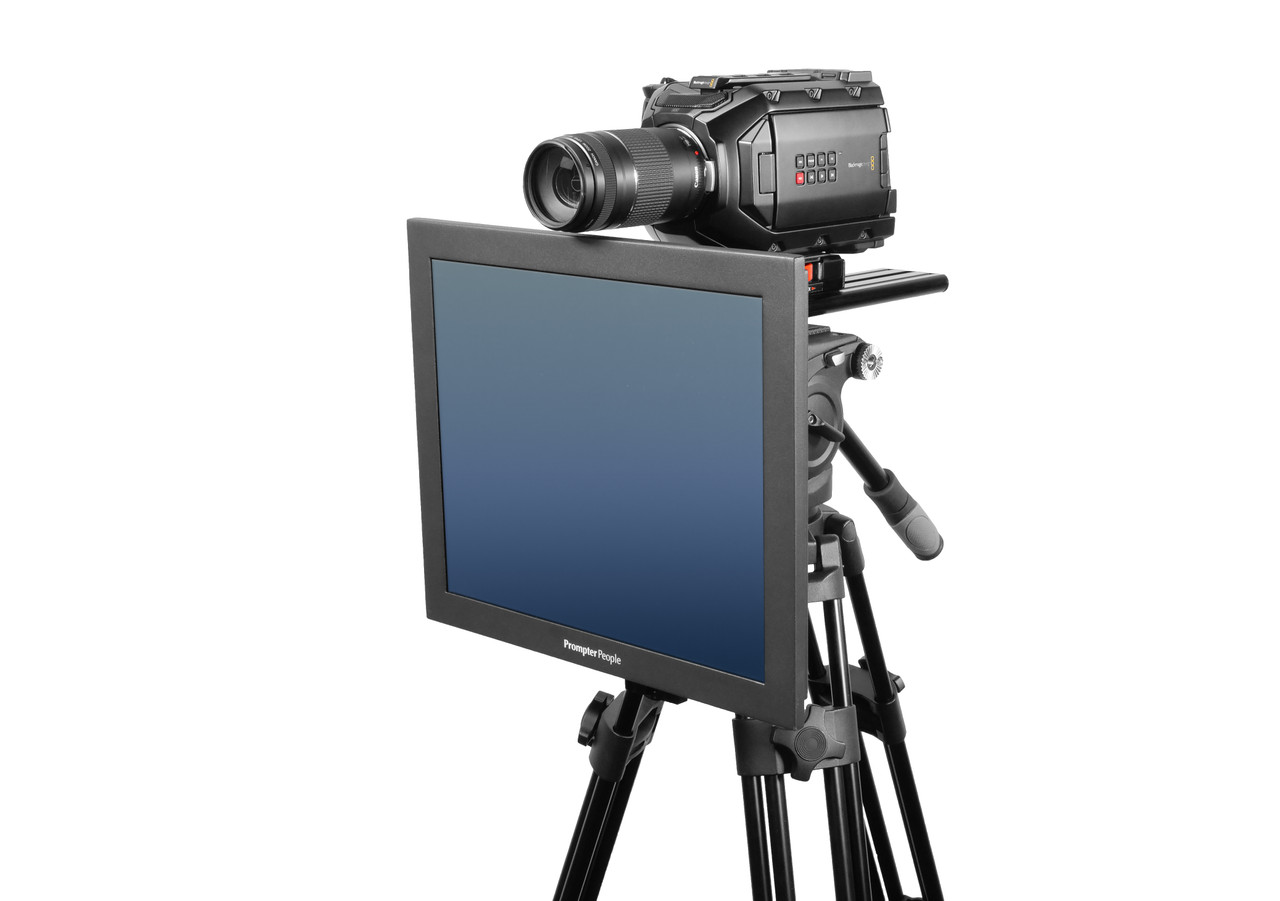 Undercamera 17 HB Teleprompter - PrompterPeople with Freesoftware - Side Angled