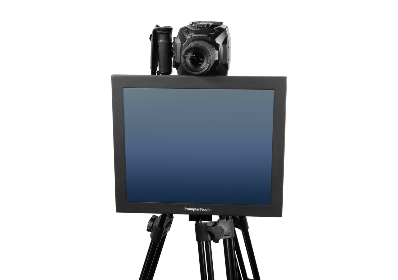 Undercamera 17 HB Teleprompter - PrompterPeople with Freesoftware - Front