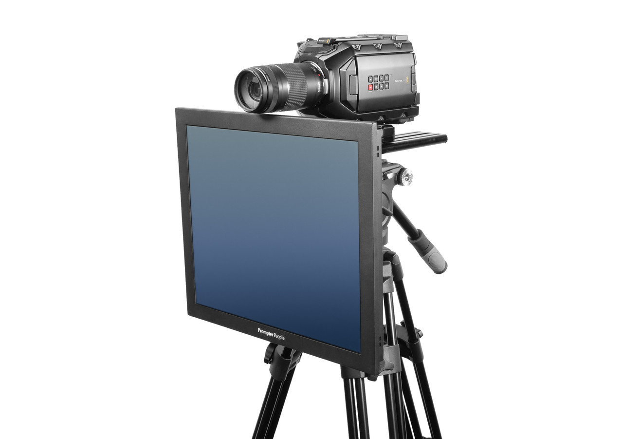 Undercamera 19 HB Teleprompter - PrompterPeople with Freesoftware - Side Angled