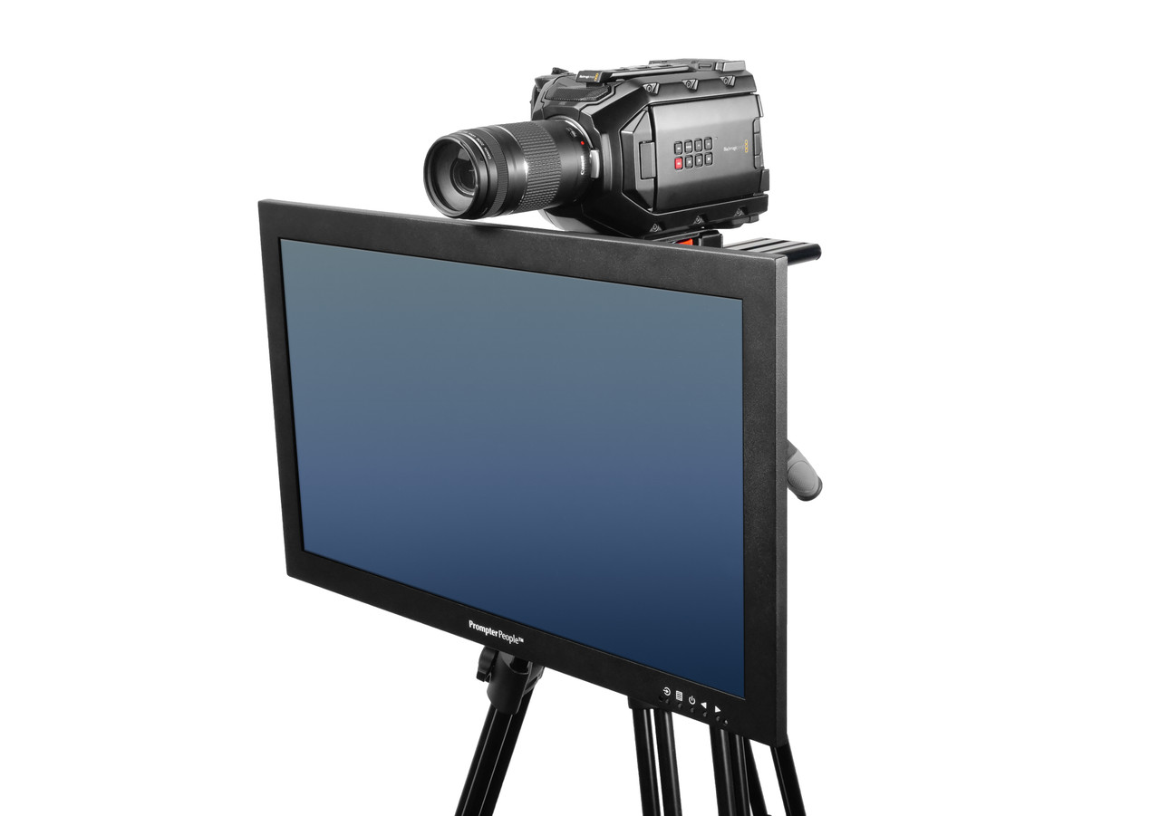 Undercamera 24 HB Teleprompter - PrompterPeople with Freesoftware - Side Angled