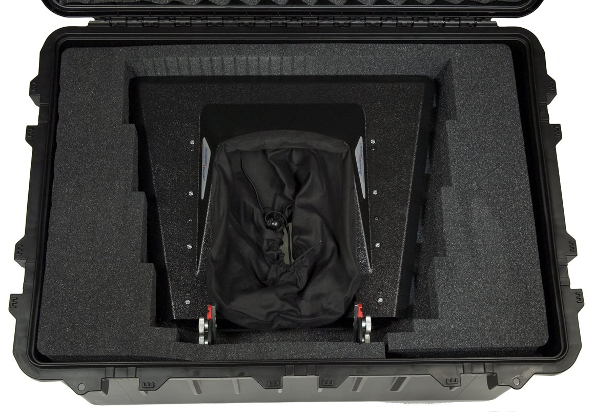Prompter People - CASE-HS3075C - Heavy Duty Teleprompter Hardcase, Configured - Top with Hood