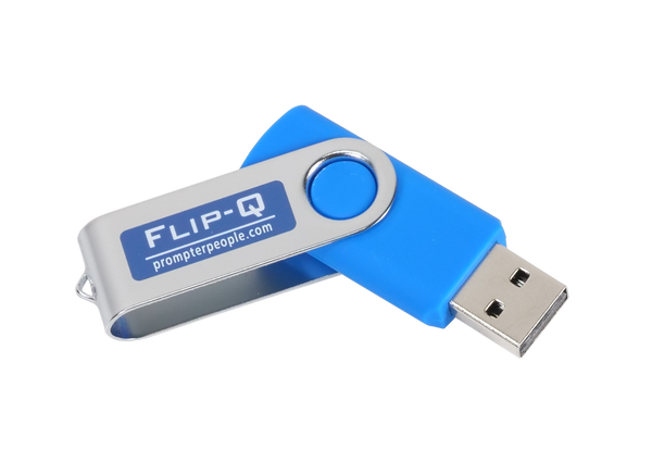 Flip-Q USB Teleprompting Software - Dongle Angled