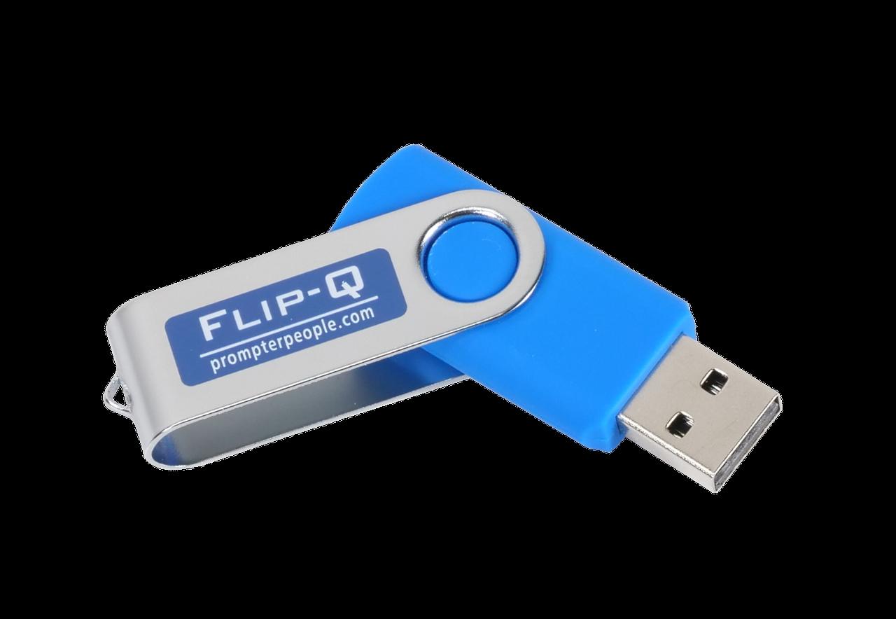 Flip-Q USB Teleprompting Software - Dongle Angled