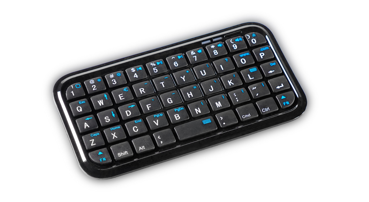 BlueTooth KeyBoard  - Included for Remote Control via BlueTooth