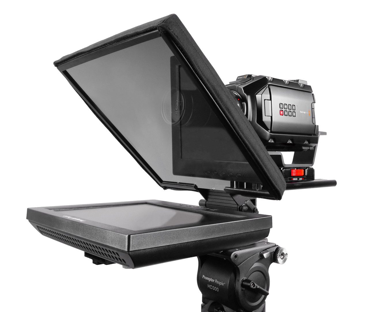 "UltraFlex 12 Inch iPad Pro, Regular Monitor, and HighBright Monitor - Pictured with HighBright 12"" Monitor - Angled"
