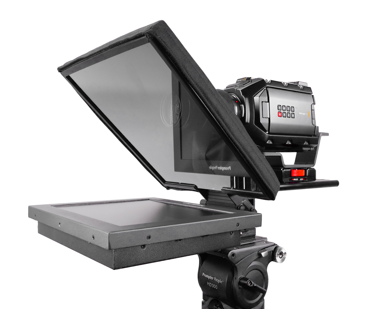 "UltraFlex 12 Inch iPad Pro, HighBright 1000 NIT Monitor, and Free Teleprompter Software - Pictured with HighBright 12"" Monitor - Angled"