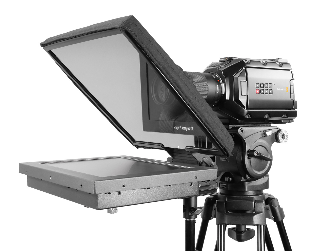 UltraFlex 12 FreeStanding Teleprompter - High Bright 1000 NIT Free Prompting Software - Angled