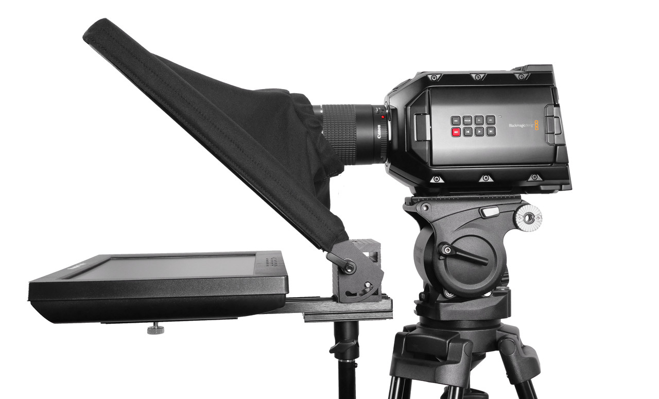 UltraFlex 12  FreeStanding Teleprompter - Reversing Monitor Free Prompting Software - Side