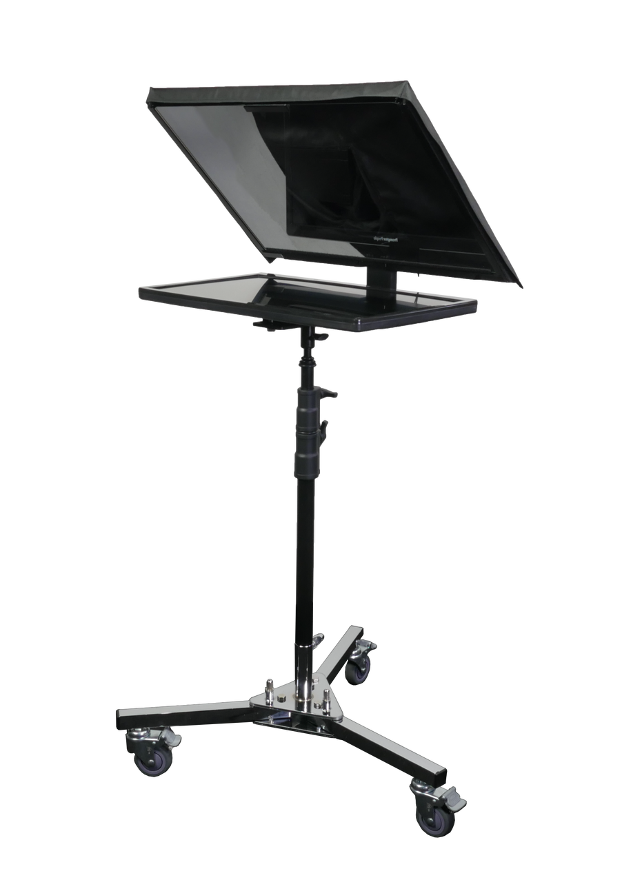 LowBoy Teleprompter Stand for QGear Pro ProLine Flex and Robo Large Format Teleprompters