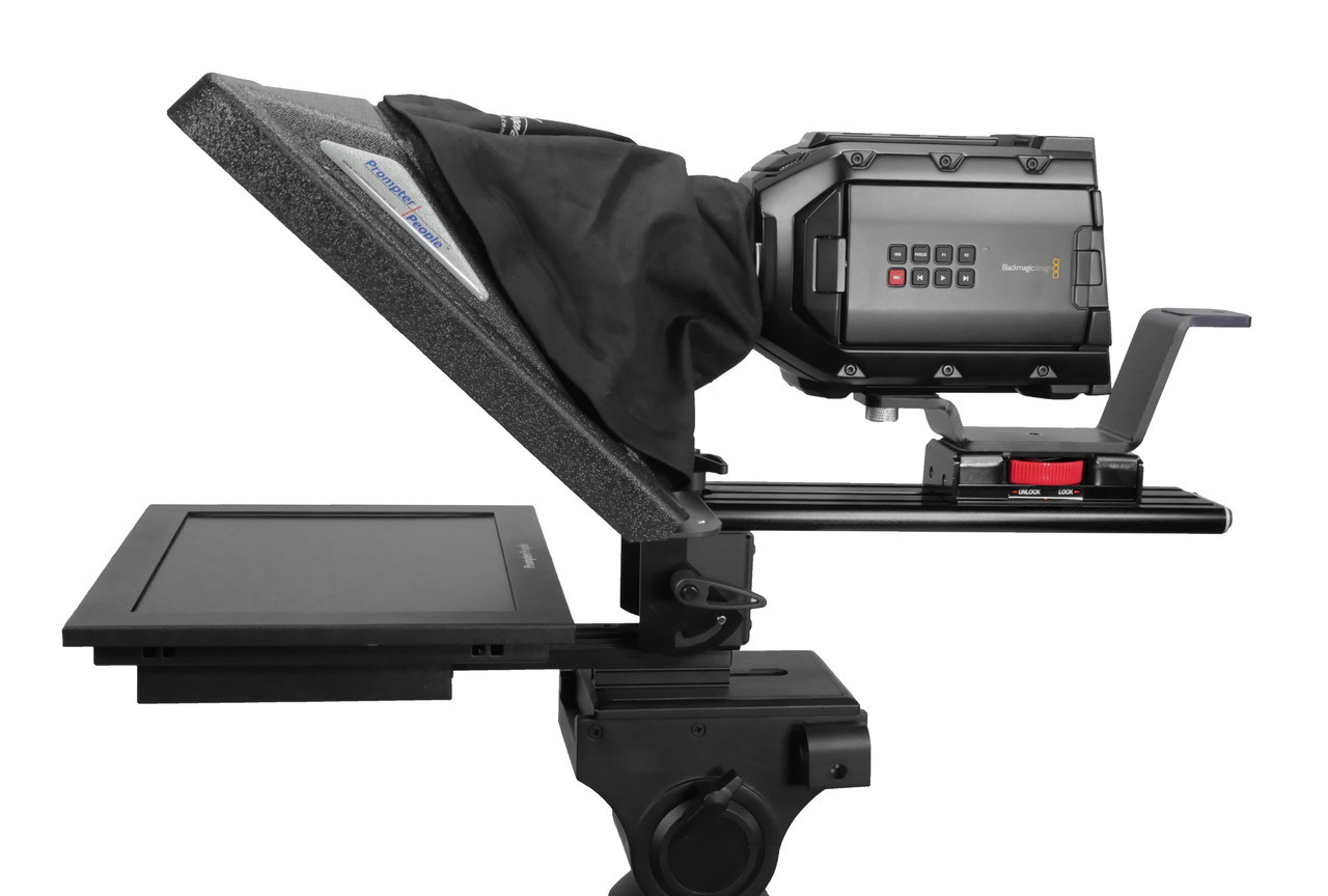 "Flex Plus 12"" HighBright 1000 NIT Auto-Reversing HD-SDI Monitor Teleprompter - Side"
