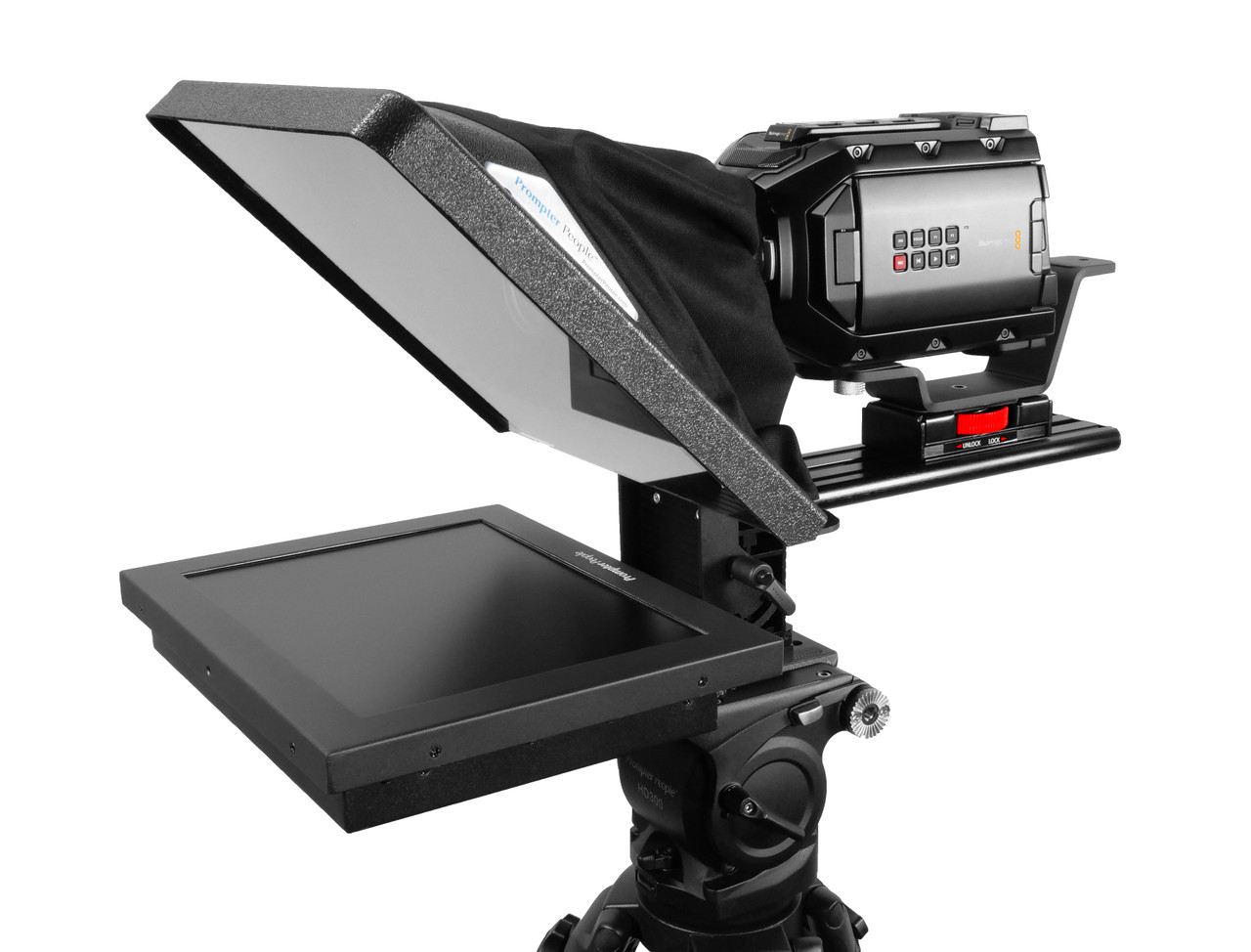 "Flex Plus 12"" HighBright 1000 NIT Auto-Reversing HD-SDI Monitor Teleprompter"
