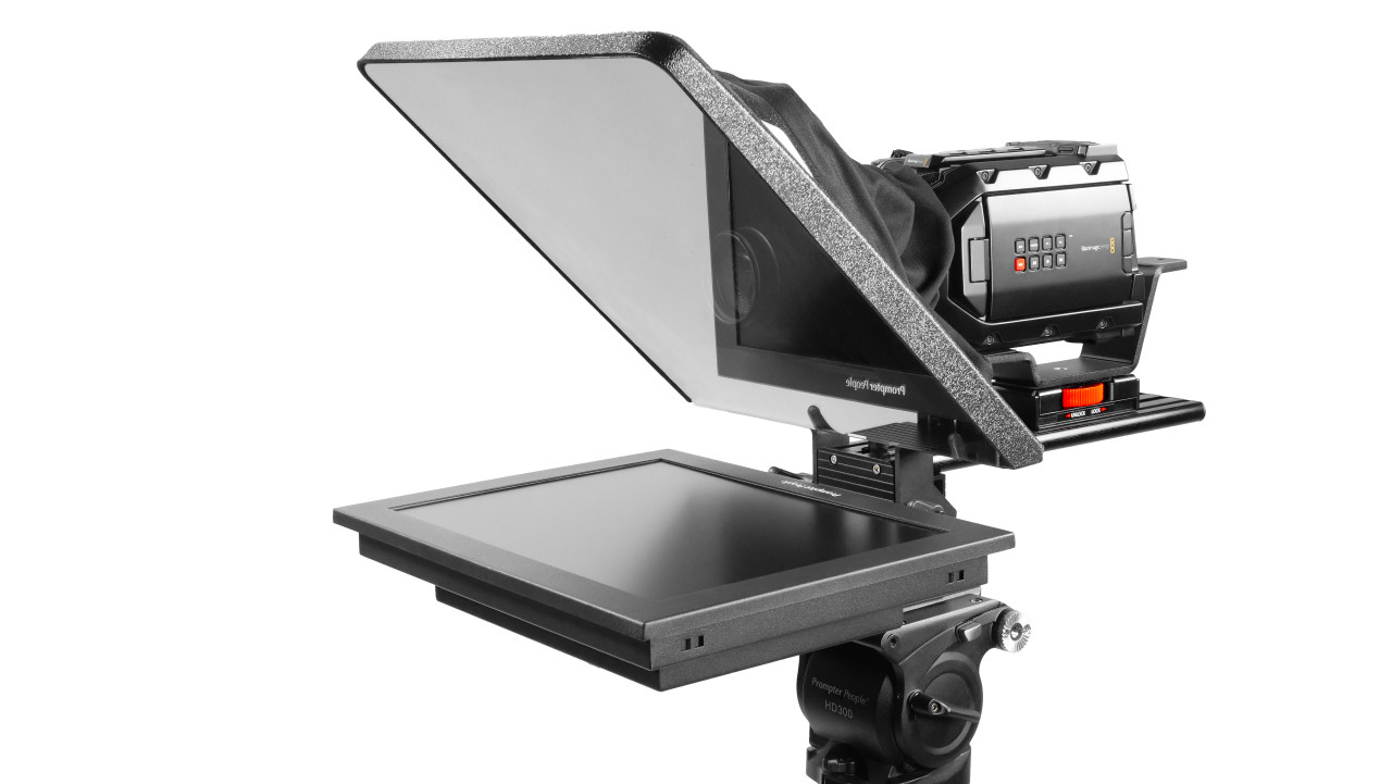 "Flex Plus 15"" HighBright 1000 NIT Auto-Reversing HD-SDI Monitor Teleprompter"