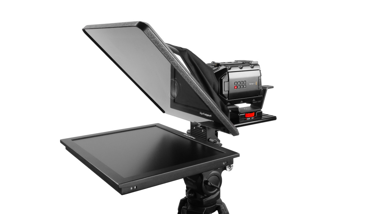 "Flex Plus 19"" HighBright 1000 NIT Auto-Reversing HD-SDI Monitor Teleprompter"
