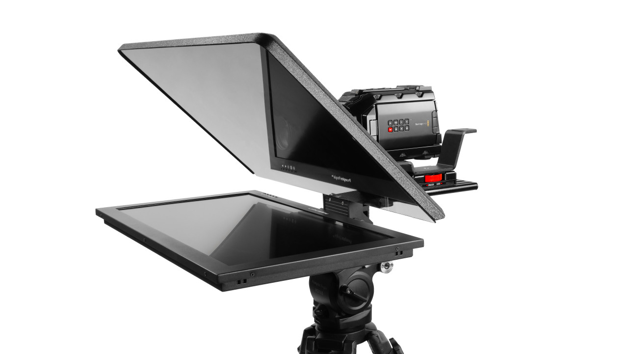 "Flex Plus 24"" HighBright 1000 NIT Auto-Reversing HD-SDI Monitor Teleprompter"