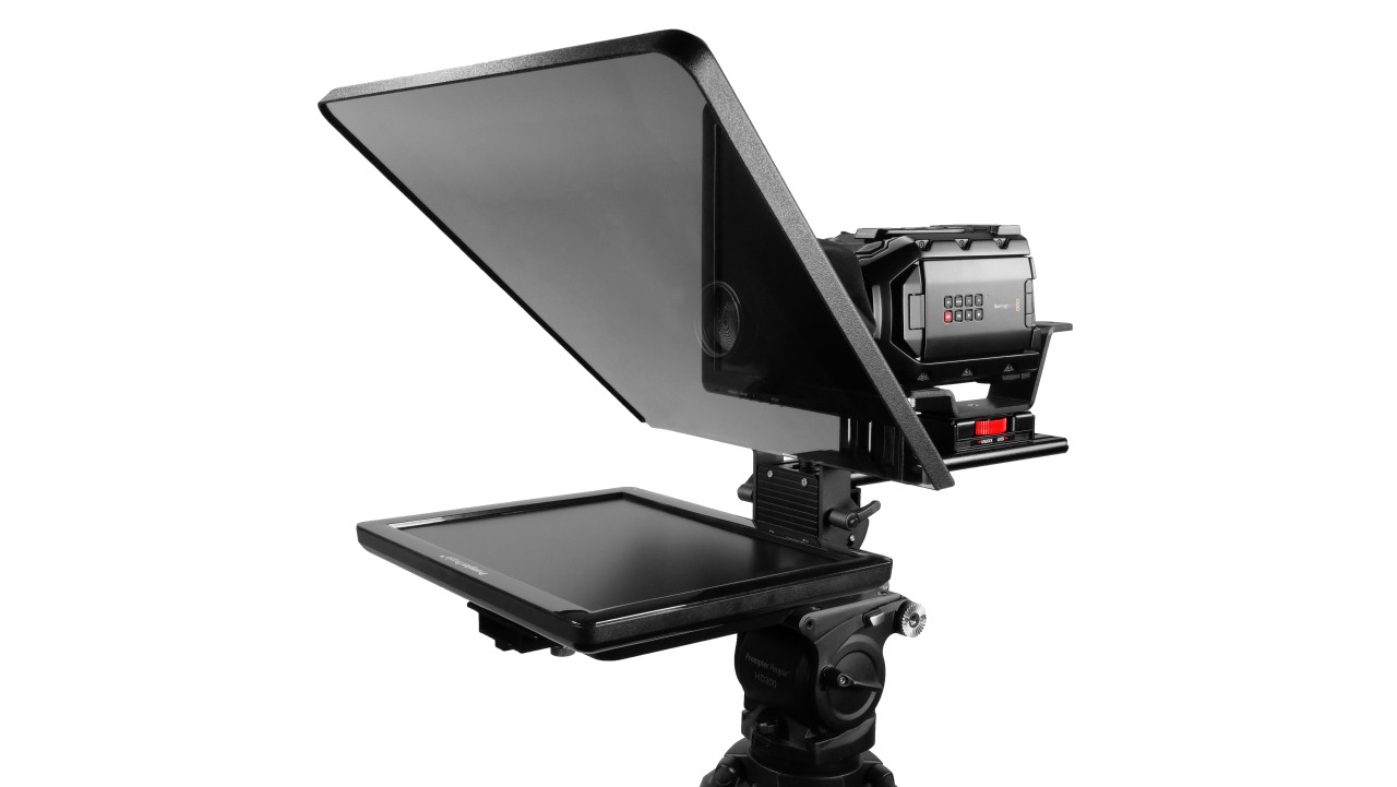 "Flex Plus 15"" Studio Glass Trapezoidal Regular 400 NIT Auto-Reversing HDMI Monitor Teleprompter"