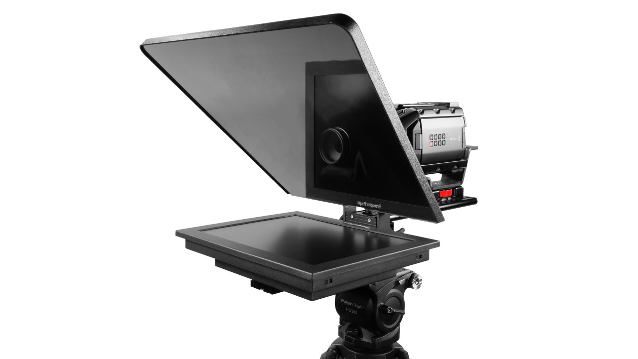 "Flex Plus 15"" Studio Glass Trapezoidal HighBright 1000 NIT Auto-Reversing HD-SDI Monitor Teleprompter"