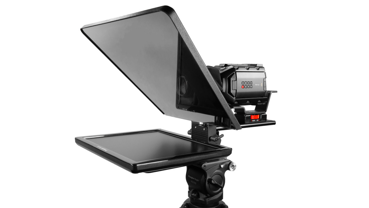 "Flex Plus 17"" Studio Glass Trapezoidal Regular 400 NIT Auto-Reversing HDMI Monitor Teleprompter"