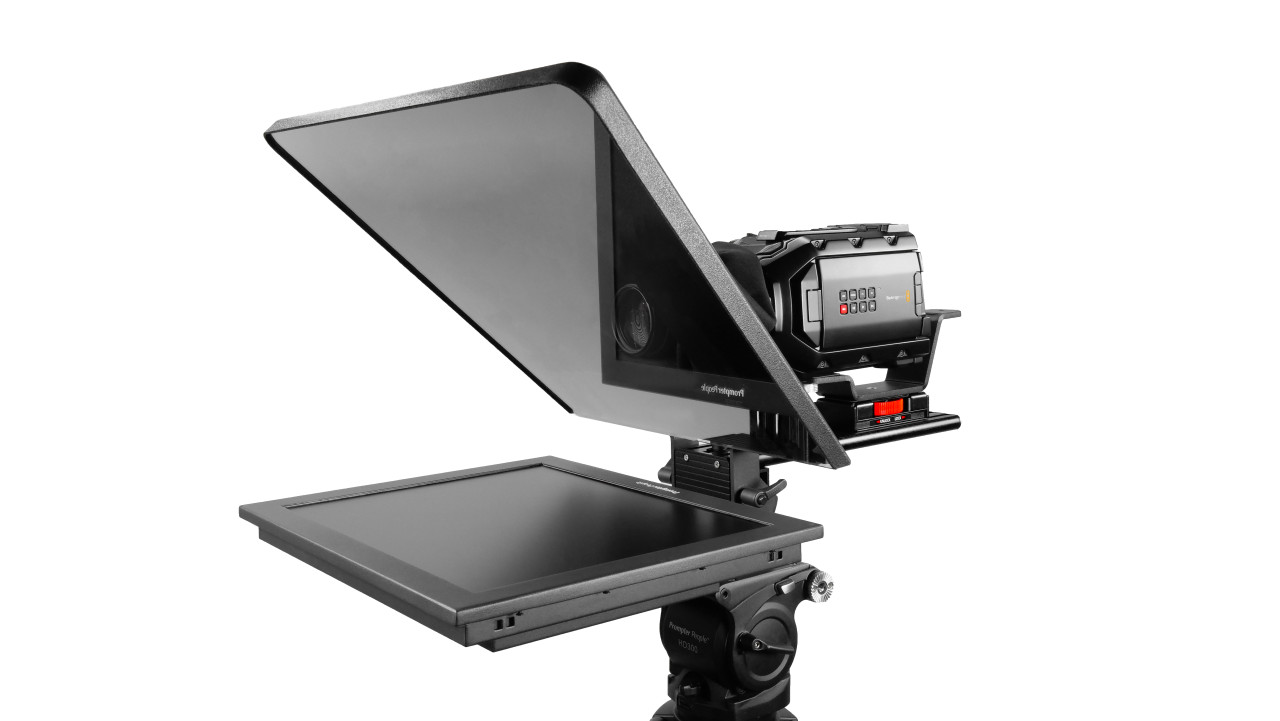 "Flex Plus 17"" Studio Glass Trapezoidal HighBright 1000 NIT Auto-Reversing HD-SDI Monitor Teleprompter"