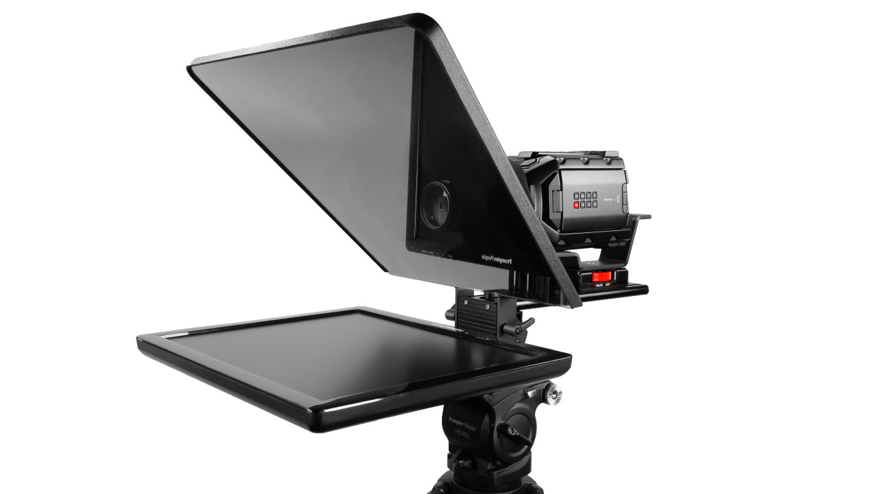 "Flex Plus 19"" Studio Glass Trapezoidal Regular 400 NIT Auto-Reversing HDMI Monitor Teleprompter"