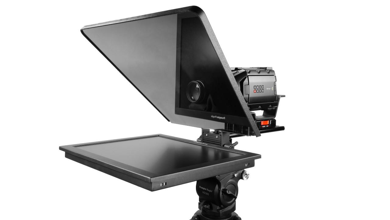 "Flex Plus 19"" Studio Glass Trapezoidal HighBright 1000 NIT Auto-Reversing HD-SDI Monitor Teleprompte"
