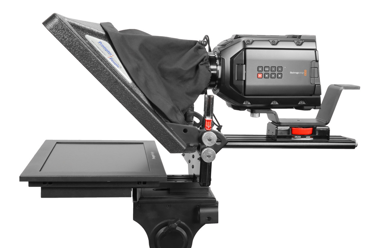 PrompterPeople ProLine Plus Teleprompter - HighBright 1000 NIT Auto-Reversing Monitor side