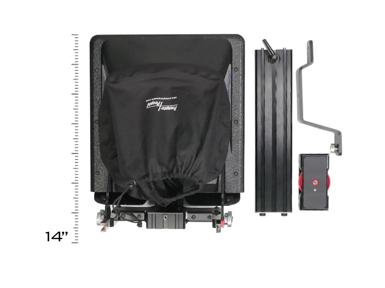 PrompterPeople ProLine Plus Teleprompter - Broken down overhead