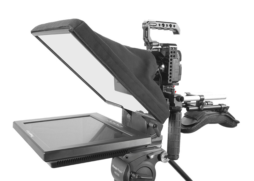 UltraFlex-12 15mm Rail-Mount Monitor Teleprompter  with Free Prompting Software