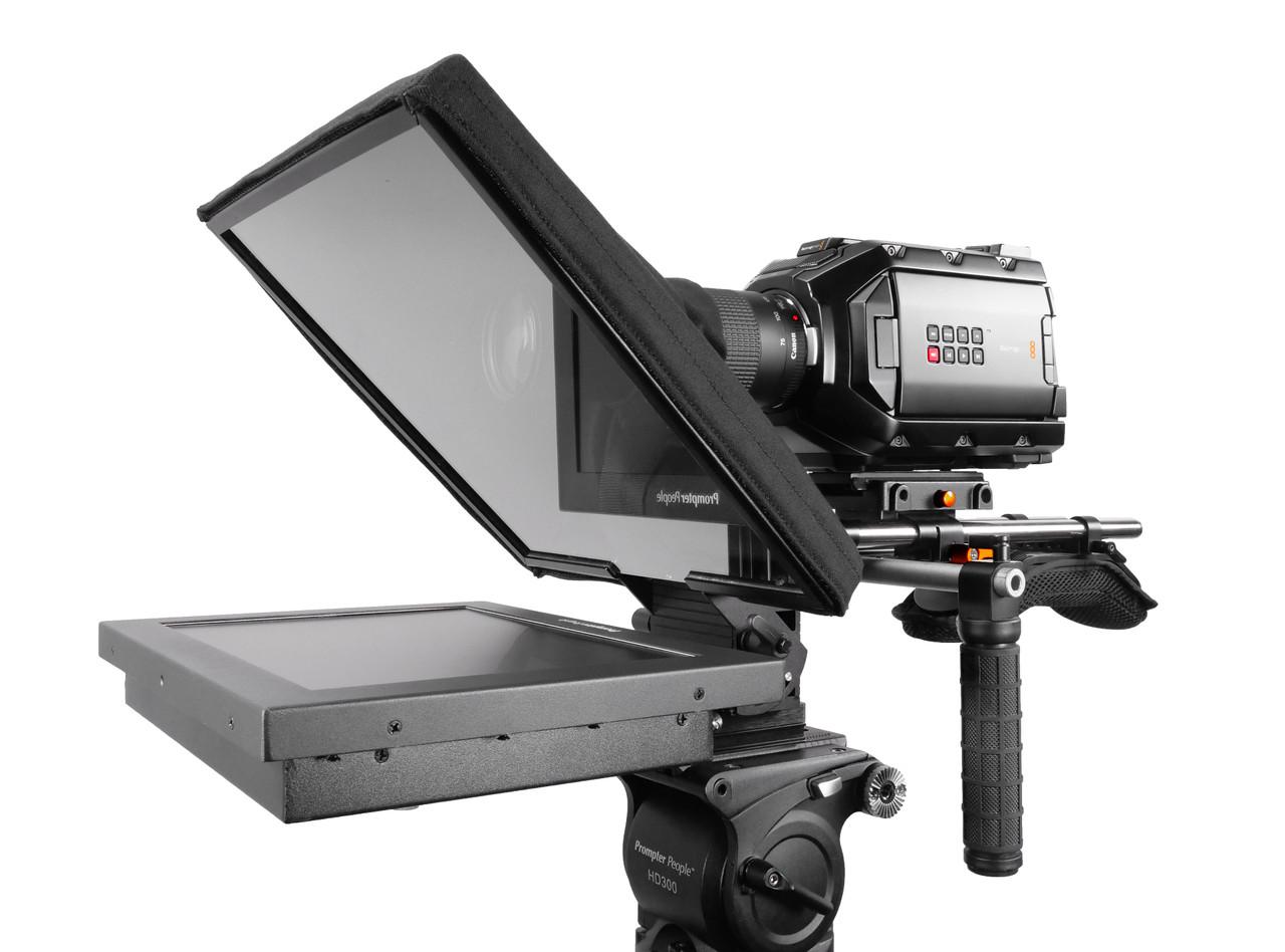UltraFlex-12 15mm Rail-Mount Teleprompter  - HB Model - Angled