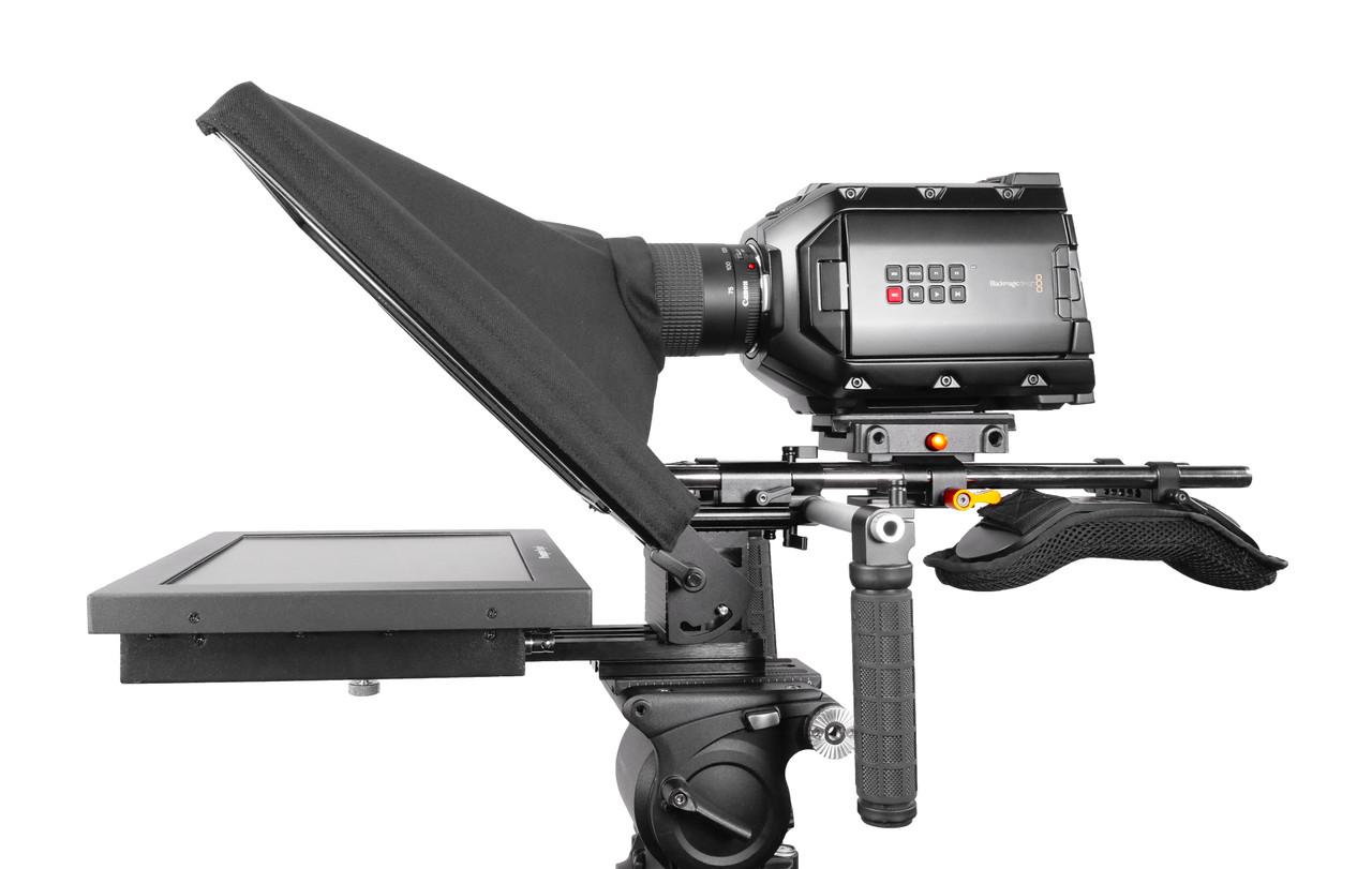 UltraFlex-12 15mm Rail-Mount Teleprompter  - HB Model - Side
