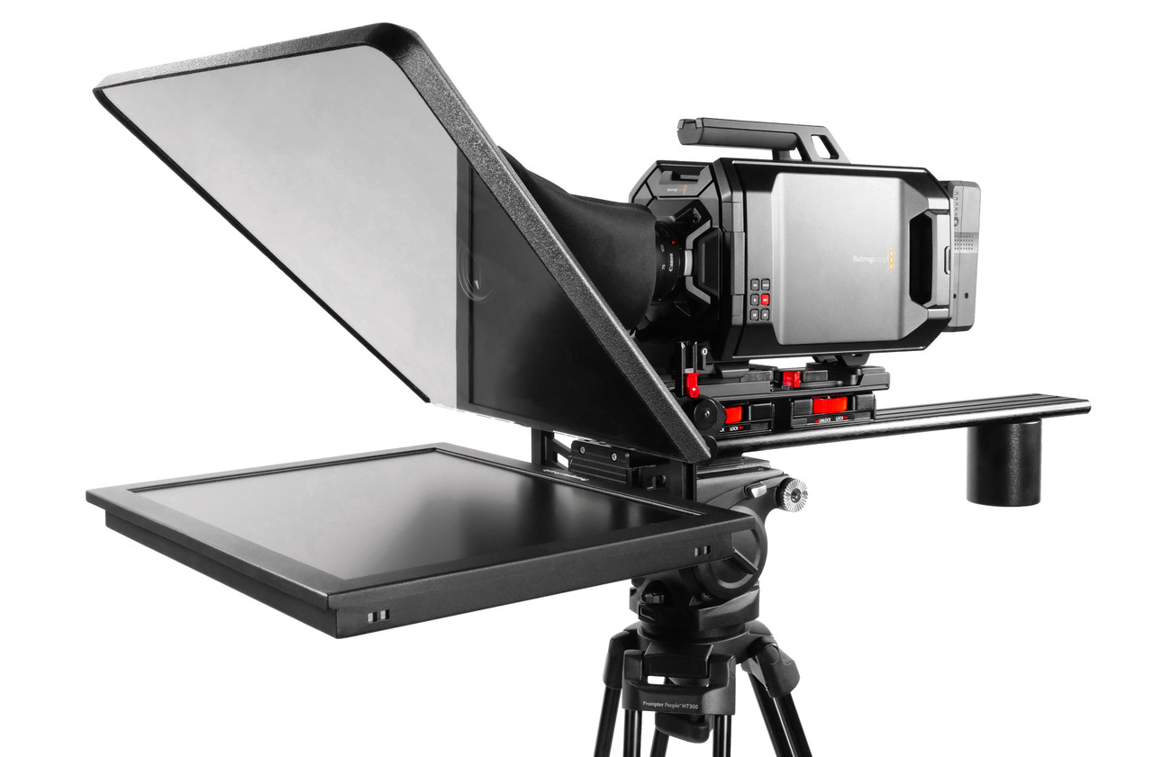 Assembled Teleprompter and with Long Sled, and Counterweight